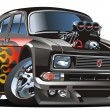Royalty-Free Stock Vektorfiler: Vector retro cartoon hotrod