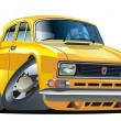Royalty-Free Stock Imagem Vetorial: Vector cartoon muscle car