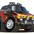 Vector cartoon jeep - Stock Vector