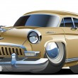 Vector cartoon retro car - Stock Vector