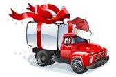 Vector Christmas delivery / cargo truck — Stock Vector