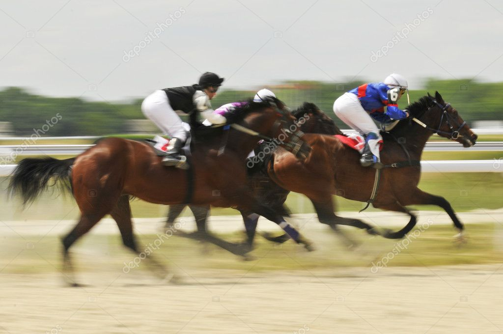 Abstract Motion Blur Horse Race  Stock Photo #2437449
