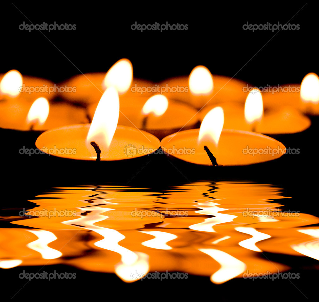 Burning candles — Stock Photo #1847203