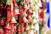 Red Christmas bells — Stock Photo
