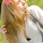 Dreamy girl — Stock Photo
