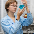 Stock Photo: Scientist,flask