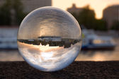 Refraction in the glass ball — Stock Photo