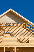 Unfinished wooden house — Stock Photo