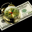 Stock Photo: Alarm clock and money 02