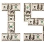 Crisis, dollars, one — Stock Photo