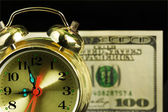 Alarm clock and money 01 — Stock Photo