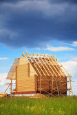 Wooden house, construction — Stock Photo