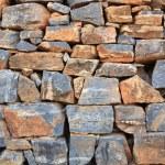 Grey stone wall. Texture. — Stock Photo