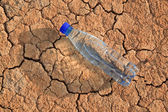 Bottle with water, lie — Stock Photo