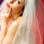 Thoughtful bride — Stock Photo