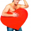 Man with a heart — Stock Photo #1795562