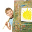 Little painter — Stock Photo