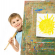 Little painter - Stock Photo