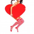 Girl with a heart — Stock Photo #1796889