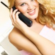 Pretty woman talking on the phone — Stock Photo #1798335