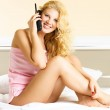 Woman talking on the phone — Stock Photo #1798347
