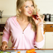 Royalty-Free Stock Photo: Pretty girl making salad