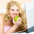 Girl with a laptop — Stock Photo #1799461