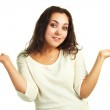 Embarassed young woman — Stock Photo