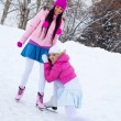 Two girls ice skating — Stock Photo #1809148