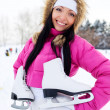 Girl going to ice skate — Stock Photo #1809200