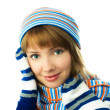 Stock Photo: Girl wearing a scarf