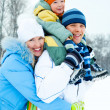 Happy family outdoor — Stock Photo #1812125