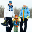 Royalty-Free Stock Photo: Family going ice skating