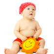 Baby ready for the beach season — Stock Photo
