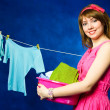 Young housewife — Stock Photo #1813837