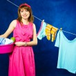 Foto de Stock  : Young housewife
