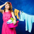 Young housewife - Foto Stock