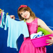 Stock Photo: Young housewife