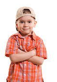 Proud little boy — Stock Photo