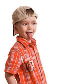 Little boy showing his tongue — Stock Photo