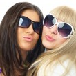 Royalty-Free Stock Photo: Girls sending us an air kiss