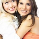 Embracing vänner — Stockfoto