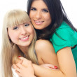 Happy embracing friends — Stock Photo