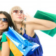 Women with shopping bags - Stockfoto