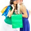Girls with shopping bags — Stock Photo #1827214