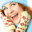 Girl wearing winter clothes — Stock Photo
