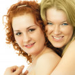 Happy embracing girls — Stock Photo #1827901