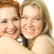 Two happy friends — Stock Photo