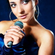 Beautiful singer — Stock Photo #1828460