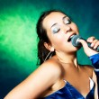 Stock Photo: Singer